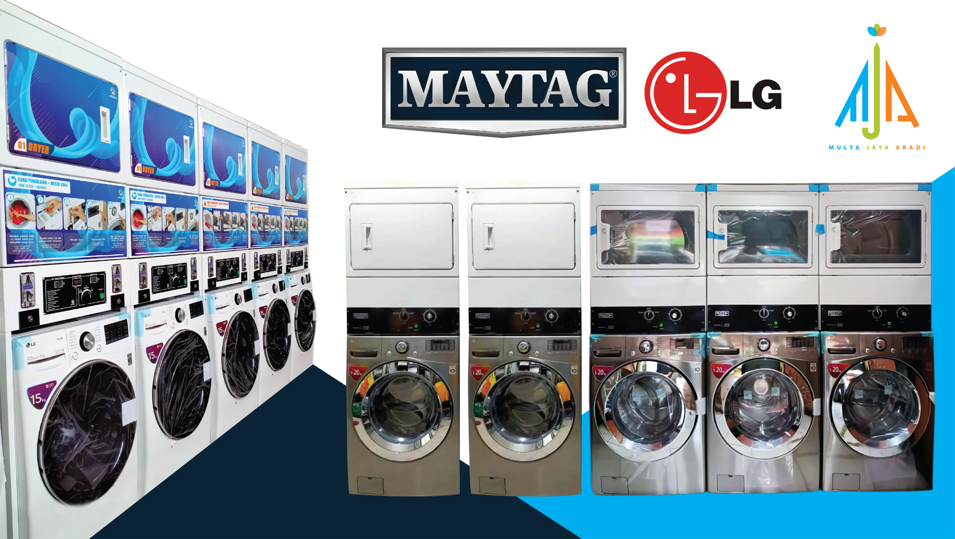 Distributor Mesin Laundry Indonesia (maytag LG)