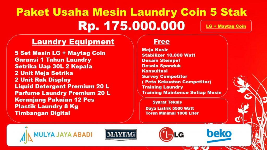 Paket Usaha Laundry CoinTerbaik,Paket Mesin Hemat Laundry Coin,Paket Mesin Laundry Coin